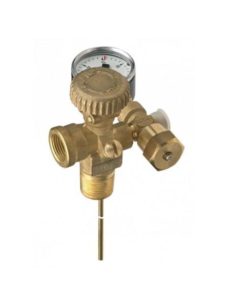 Вентель відбору парової фази тип Export PS AG 3\4 NPT*IG POL 25 bar з манометром та запобіжним клапаном від розриву труби