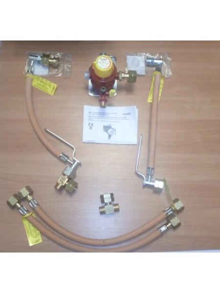 Газобалонка на 4 балона 4 кг/год 50 мбар (Робочий та резервний), комплект