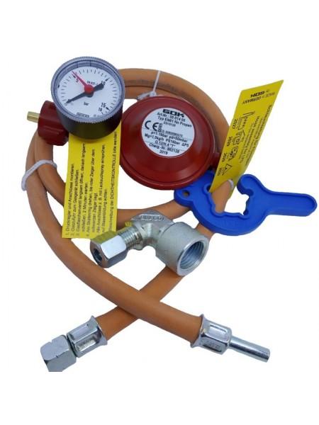 Комплект для під'єднання газового балону GOK 1,5 кг/год 50мбар KLF MD G1/4 LH UEMxRST8x1м