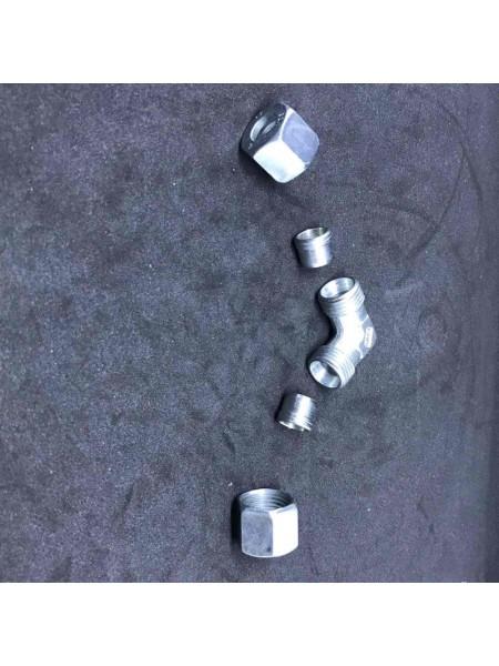 Кут з'єднувальний газ W-RVS10 x RVS10 для зєднання труби діаметром 10мм
