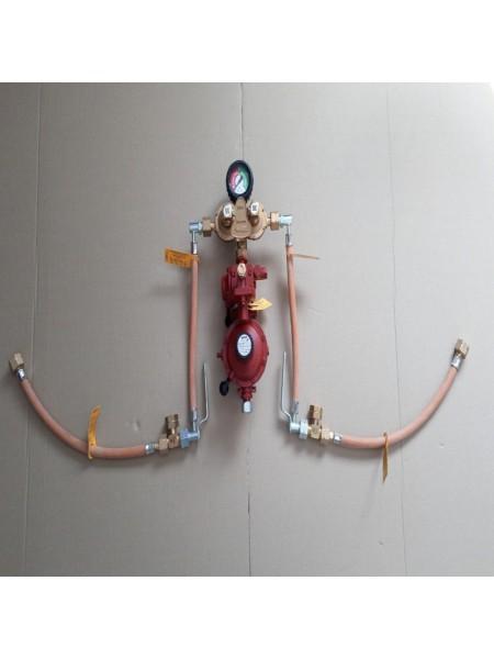 Газобалонка на 4 балона 12кг/год 37-50 mbar AG GF (автоматична робочий та резервний), комплект