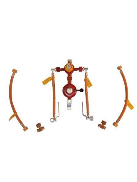 Газобалонка на 4 балона 6кг/год 50 mbar AG GF (автоматична робочий та резервний), комплект